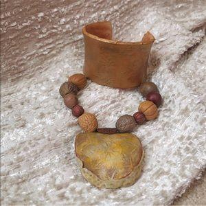 Jewelry - Craftsmanship Moroccan clay bracelet & necklace